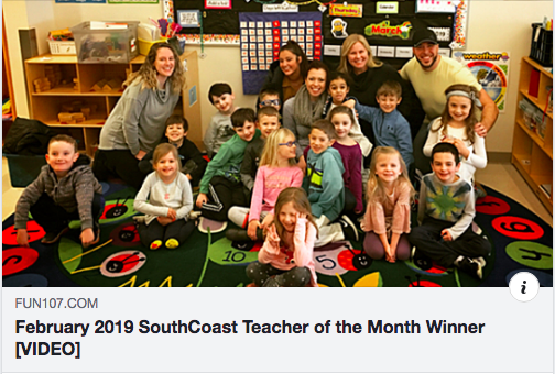 "VIDEO: CONGRATULATIONS to Ms. Zajac, FUN107's ""Teacher of the Month"" for February 2019"